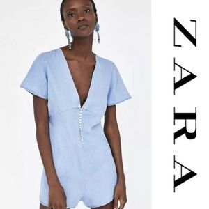 Zara | Denim Jumpsuit with Buttons